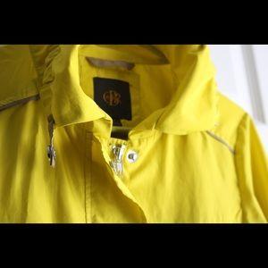 Bright yellow raincoat!